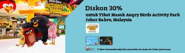 Diskon 30% untuk Tiket Masuk Angry Birds Activity Park Johor Bahru, Malaysia
