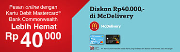 Diskon Rp40.000,- di McDelivery