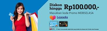 Promo tiap Selasa -Diskon hingga Rp100.000 di Lazada
