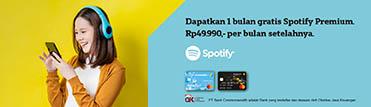 Gratis 1 bulan Spotify Premium