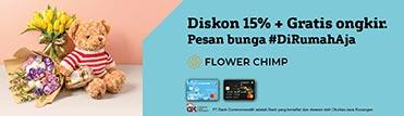 Diskon 15% + gratis ongkir di Flower Chimp