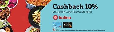 Cashback 10% di Kulina