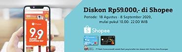 Diskon Rp59.000 di Shopee. Berlaku hingga 08 September 2020