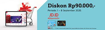 Diskon Rp90.000,- di JDID. Berlaku hingga 08 September 2020