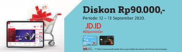 Diskon Rp90.000,- di JDID. Berlaku 12-13 September 2020