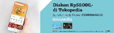 Diskon Rp50.000,- di Tokopedia