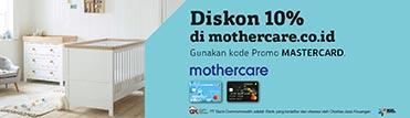 Diskon 10% di mothercare.co.id