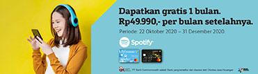 Dapatkan gratis 1 bulan Spotify Premium