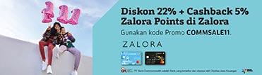 Diskon 22% + cashback 5% Zalora Points di Zalora