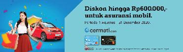 Diskon hingga Rp600.000,- untuk asuransi mobil di Cermati.com