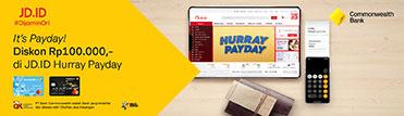 It's PayDay. Diskon Rp100.000,- di JD.ID