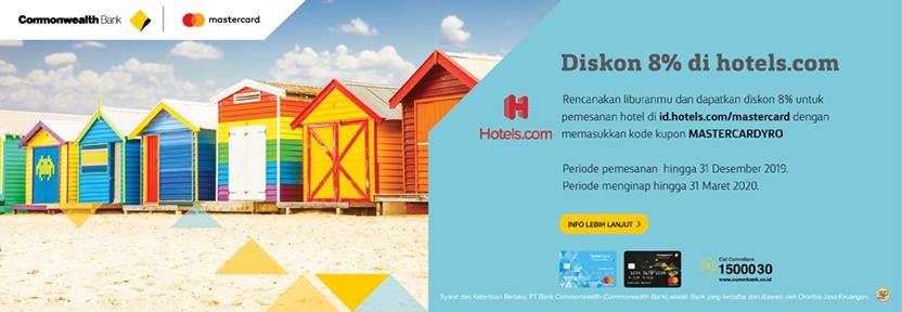 Hotels.com - Diskon 8%