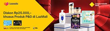 Diskon Rp25.000,- khusus Produk P&G di LazMall
