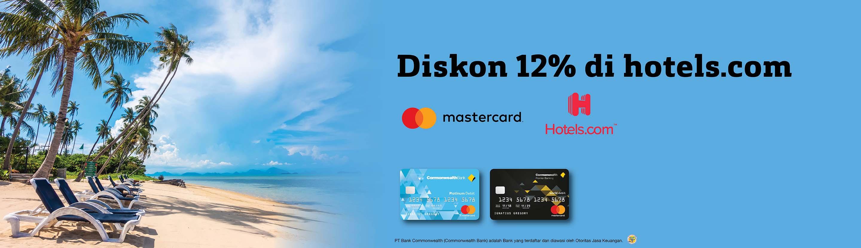 Hotels.com - Diskon 12%