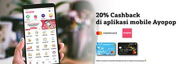 20% Cashback di Aplikasi Ayopop
