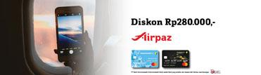 Discount Rp 280.000 Airpaz.com