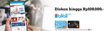 Blibli.com – Diskon hingga Rp100.000,-