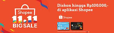 Diskon hingga Rp100.000,- di aplikasi Shopee