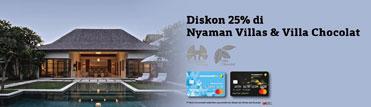 Diskon 25% di Nyaman Villas & Villa Chocolat