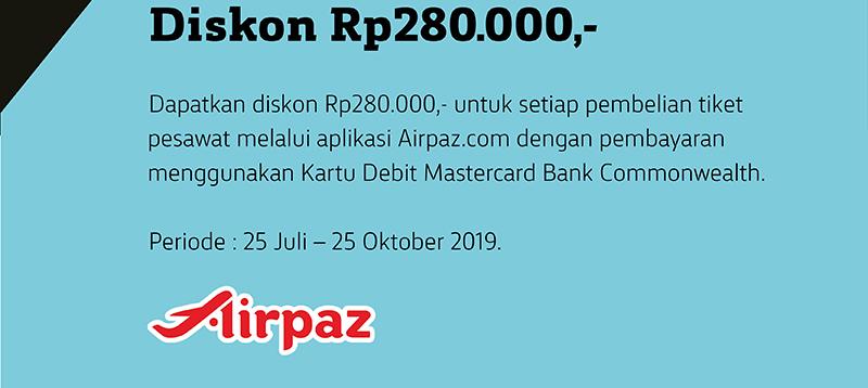 Airpaz Diskon Rp 280.000